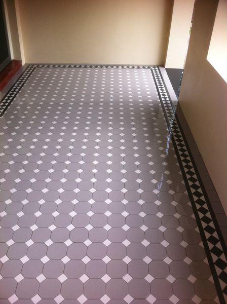 Grey verandah tiles
