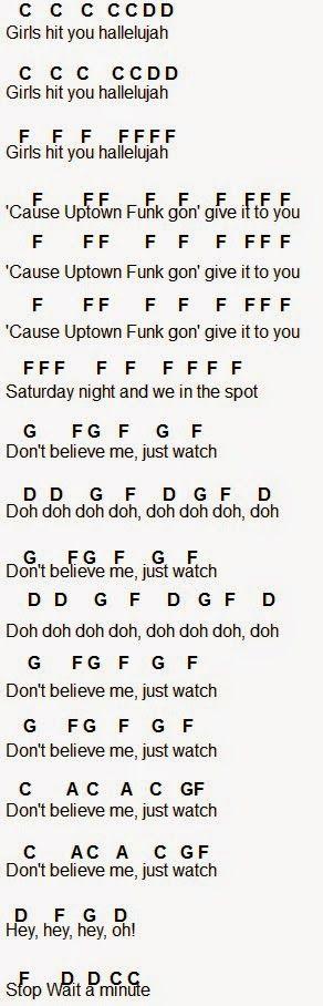 Flute Sheet Music: Uptown Funk
