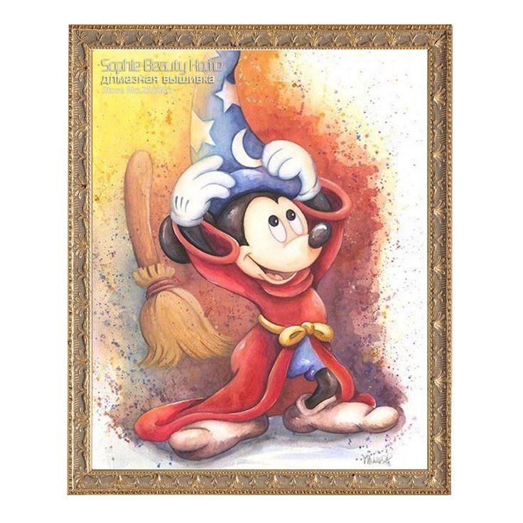 Diy diamond painting cross stitch diamond embroidery children bedroom cute cartoon Mickey Mouse point diamond mosaic painting
