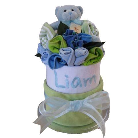 Personalised baby wrap cake