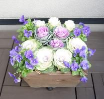 【WOODPRO】ガーデンママの部屋 ■寄せ植えプランター(深底タイプ)2