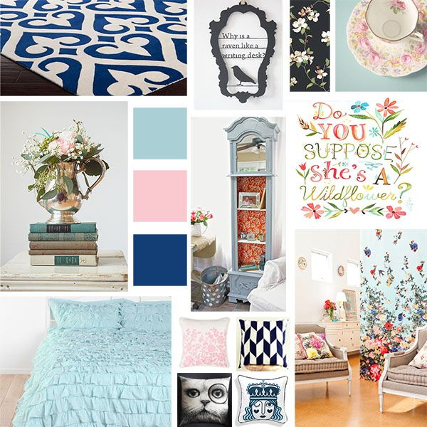 Our 2nd Mood Board Is An Alice In Wonderland Inspired A Great Design Idea