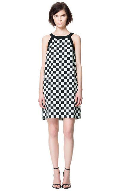 Image 1 of CHECKERED PRINT DRESS from Zara