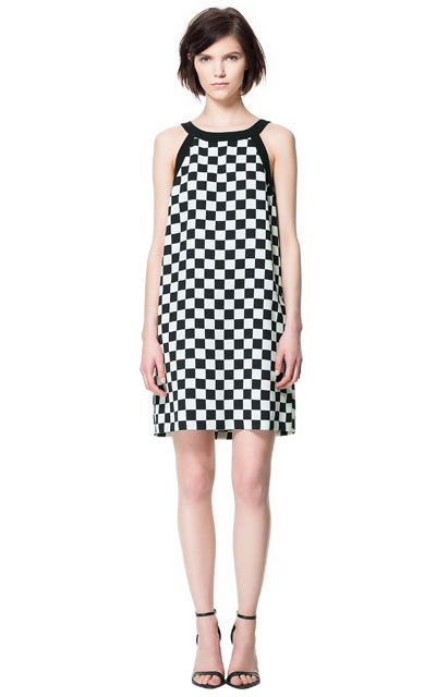 Image 1 of CHECKERED PRINT DRESS from Zara