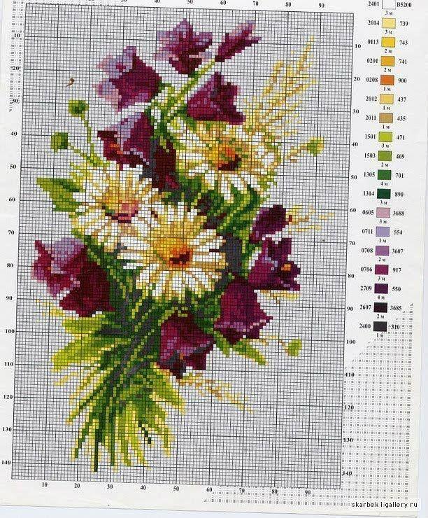 daisies & purple flowers (bbj0137) 1/1
