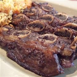 "Korean BBQ Short Ribs (Gal-Bi) | ""This recipe is RIGHT ON. I only marinated the gal-bi for 30 minutes, and it still tasted amazing. I also used the marinade on chicken, and it was awesome. This marinade is a keeper!"" -bunnyliang"