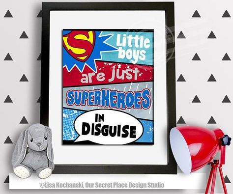 Little Boys Are Just Superheroes in Disguise Boys Superhero Wall Art Boys Room Decor Toddler Superhero Room Boys Superhero Decor Superhero Room Decor for Boys Superheroes Room Super hero Wall Decor Superman Nursery Superhero Theme Room Ideas Superhero Theme Bedroom Super hero print Comic Book Wall Art Comic Book Bedroom Comic Book Nursery Superhero Baby Wall Decor Superhero Crib Wall Decor Superhero Nursery Superman Wall Art Superman Wall Decor Superman Baby Shower by OurSecretPlace