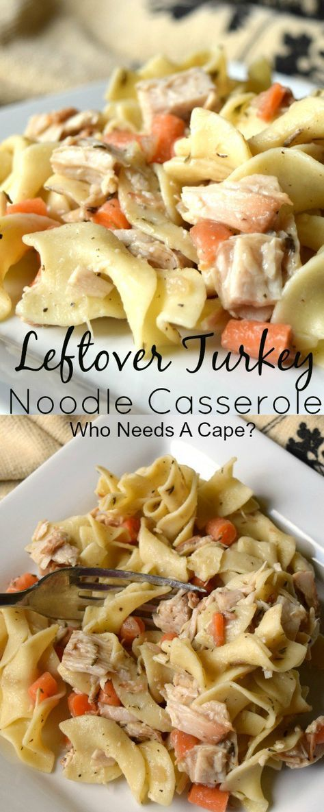 Tired of having leftover Thanksgiving turkey? Make an easy Leftover Turkey Noodle Casserole and change things up! This easy family pleasing meal is great!