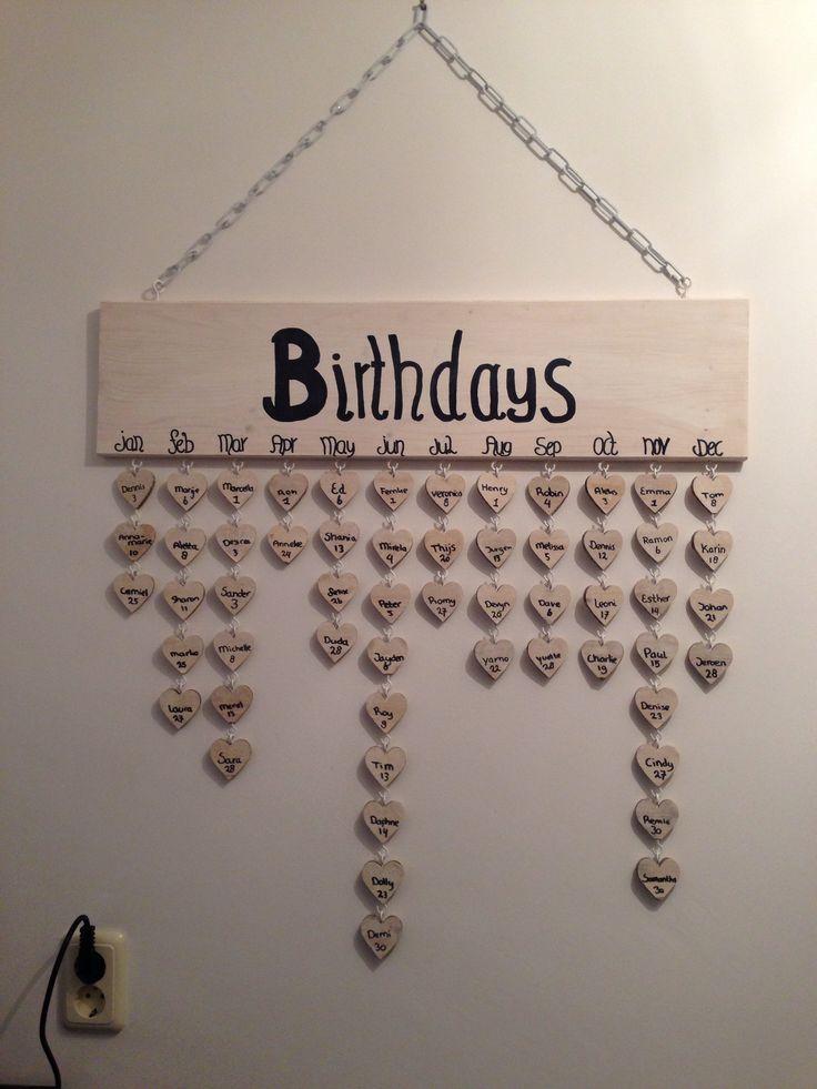Happy met onze verjaardagskalender