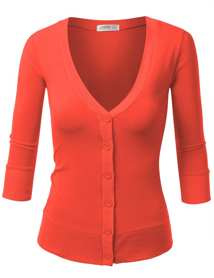 J.TOMSON Womens V-Neck Button Down Cardigan at Amazon Women's Clothing store: Cardigan Sweaters