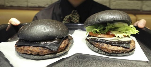 Kuro  the Black Burger...only in Japan...