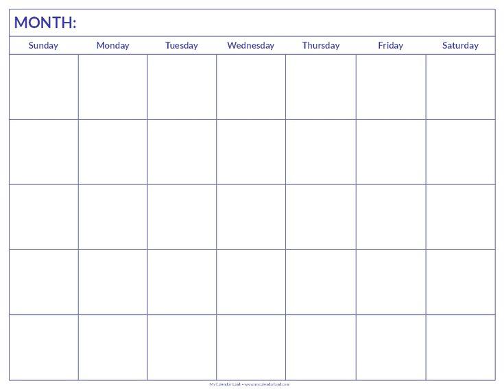 Blank Calendar Print Outs Printable Calendar Template Printable Blank Calendar…