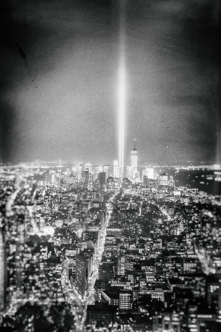 New York City  Tribute In Light  World Trade Center—sometimes It's Just  The