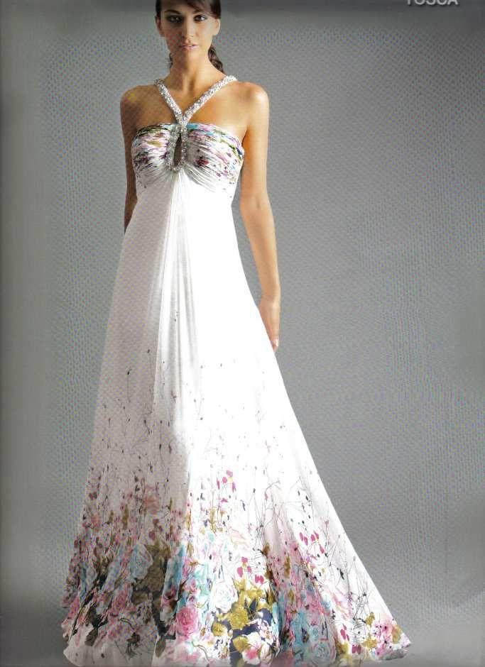 Long Floral Dresses for Wedding