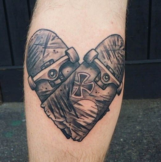 True love. Tattoo by Benny Mac. #inked #tattoo #Love #skate #independent #Skater #skateboard #heart