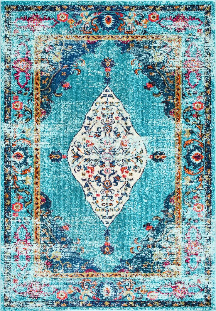 Overdyed saturated greatness! This is Rugs USA's Chroma CB26 Iris Fading Oriental Medallion Rug!