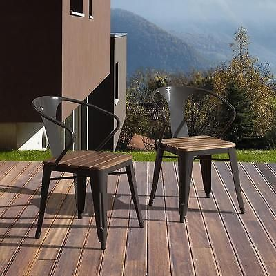 4 Pieces Outdoor Chair Dining Chat Conversation Garden Pool Backyard Cafe Bronze
