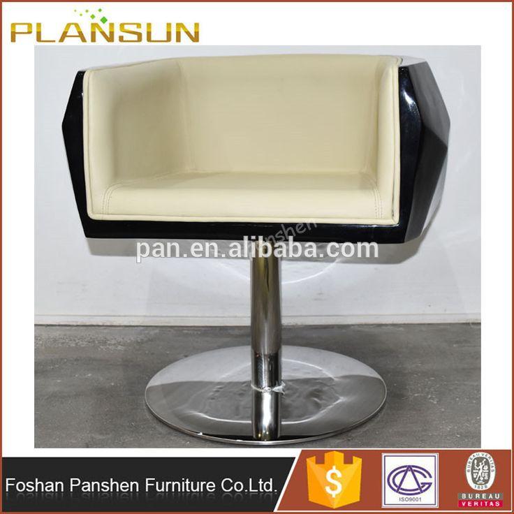 barbershop furniture fiberglass white salon styling chairs