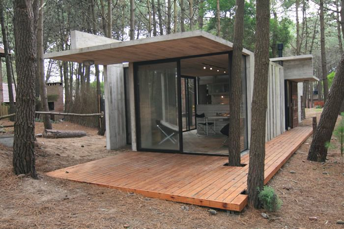 shedMinis House, House Design, Mars Azul, Mini Houses, Design Treehouse, Azul Argentina, Holiday House, Concrete House, Architecture Design