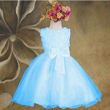 Alta Calidad Del Verano Del Bebé Vestido de la Muchacha de 3 ~ 7 Año de Cumpleaños Vestidos para Bebés Bebés Niñas Chirstening(China (Mainland))