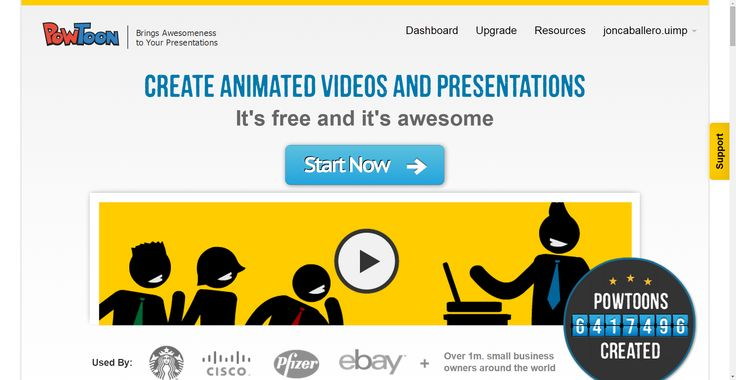 Here's my favourite #storytelling #webtool so far: PowToon, free business presentation software animated video maker and PowerPoint alternative. It's a fun way to create animated presentations with quite a lot of interesting drag-and-drop characters, effects and transitions. Check it out!