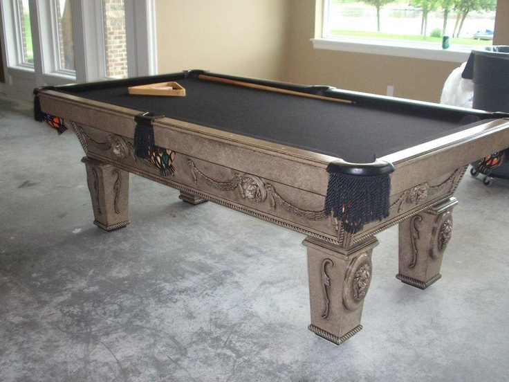 Updated Pool Table Makeover - Remodelaholic | Remodelaholic, faux italian slate