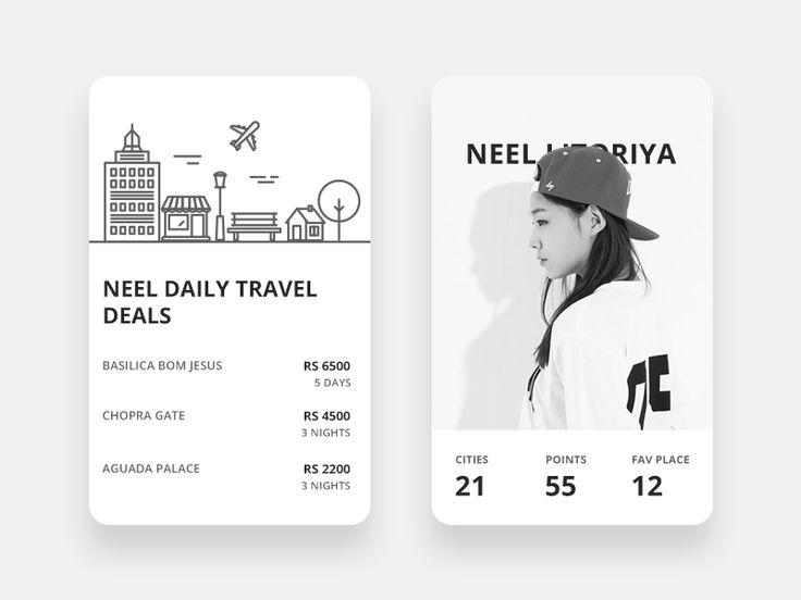 Travel deals + user info