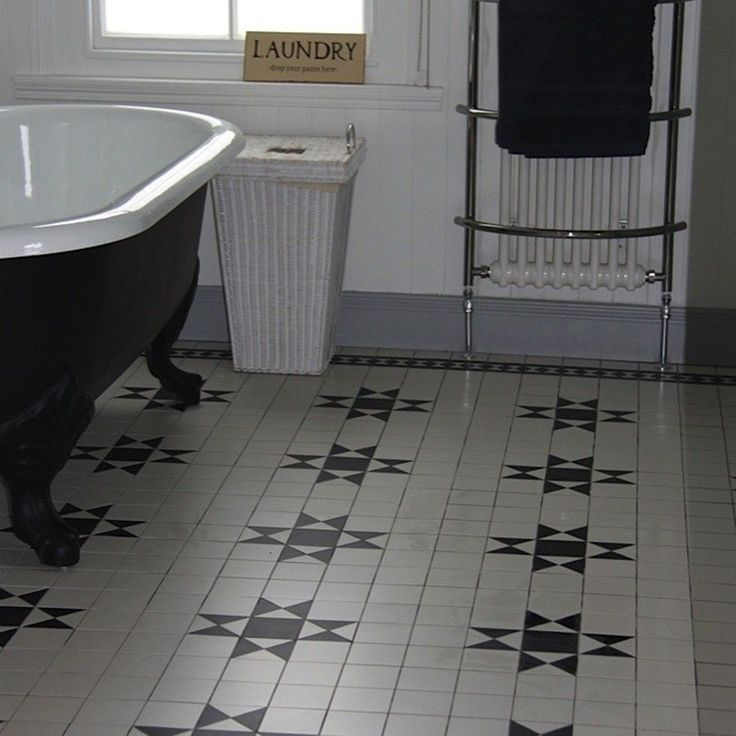 Black & White Panel Tiles Gosford Tiles 285x285x8mm Tiles