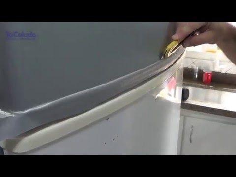 DIY: Envelopando a geladeira! (transformando Geladeira branca em Inox) - YouTube
