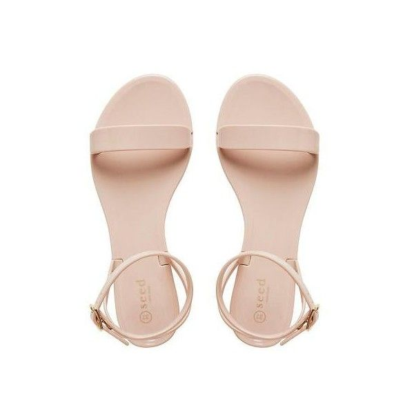 Womens Shoes | Tessa Strap Jelly Sandal | Seed Heritage (1.140 UYU) ❤ liked on Polyvore featuring shoes, sandals, flats, heels, strappy flats, strappy shoes, jelly flats, flat pumps and jelly shoes