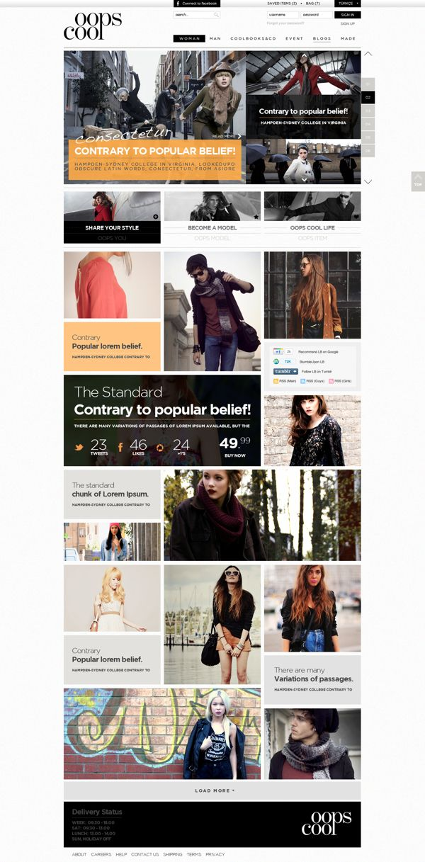 Oops Cool - Fashion portal on Behance
