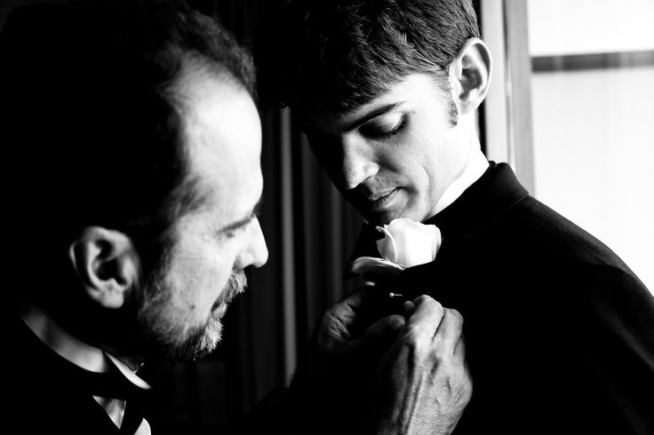 A Father And Son Moment Before The Wedding Photographed In Beverly Wilshire Hotel Off Rodeo Drive Curly Transplanted To Sevierville