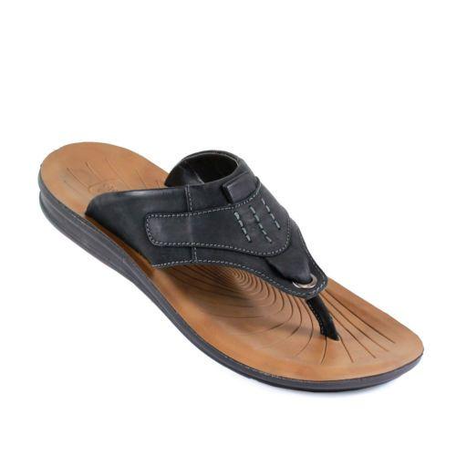 Strap Leather Medium (D, M) Sandals & Flip Flops for Men