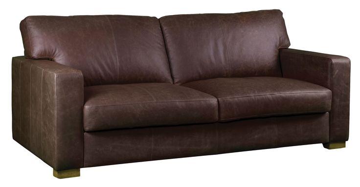 Carlisle leather sofa in vintage brown