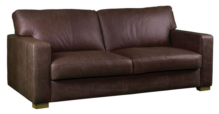 Carlisle leather sofa in vintage brown