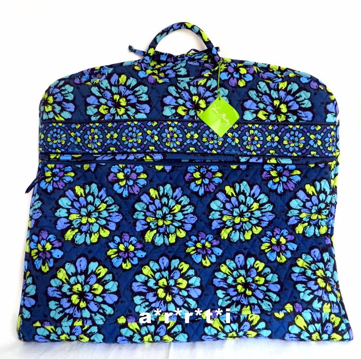 Vera Bradley Garment Bag Indigo Pop New with Tags