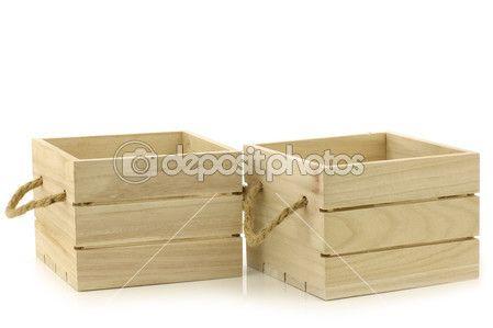 Деревянные ящики с ручками канат — стоковое изображение #23950727