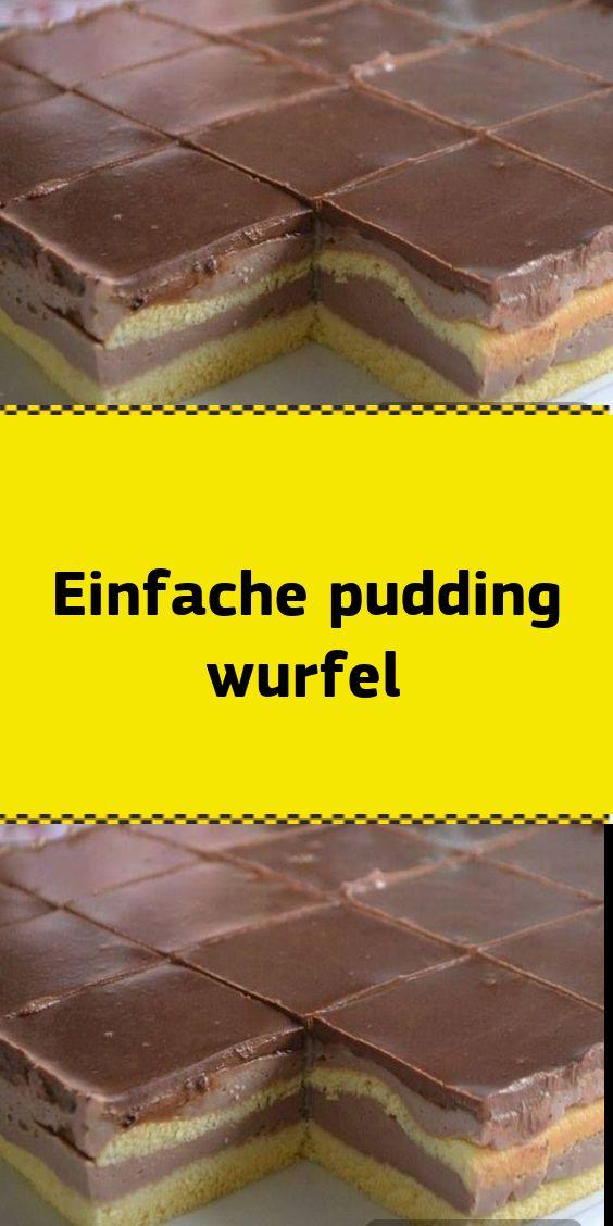 Einfache pudding wurfel