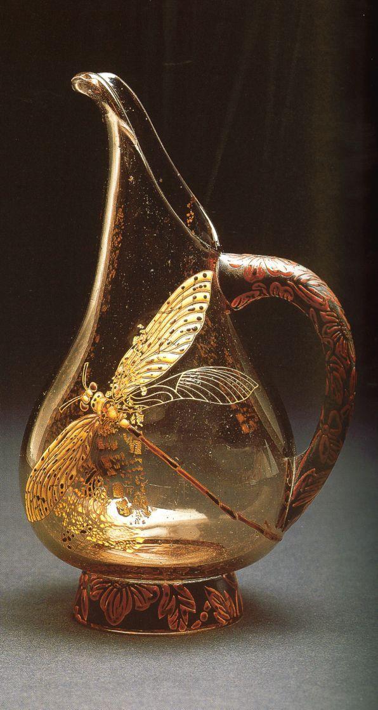 Emile Gallé, Pichet libellule doré