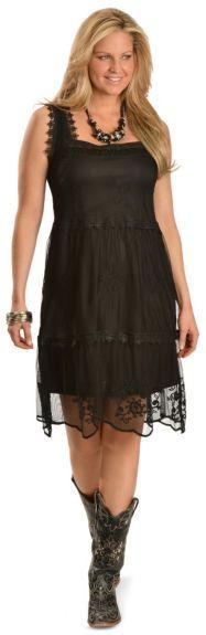 Rancho Estancia Boho Chic Black Dress available at #Sheplers