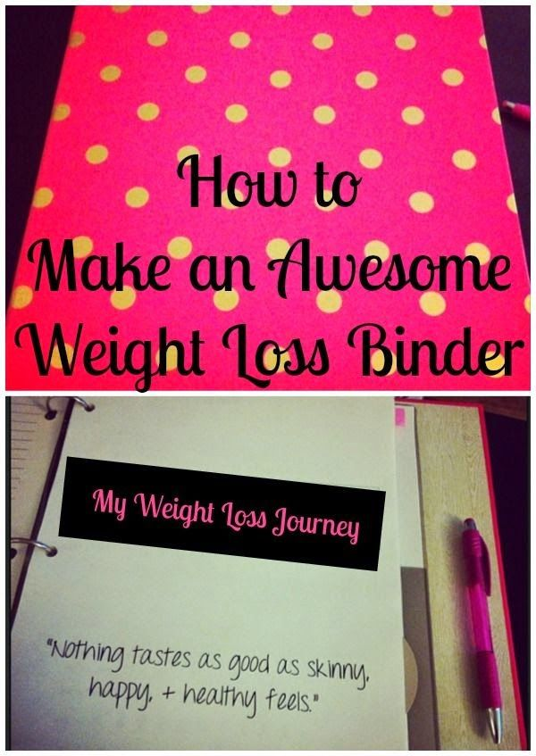 Best DIY Projects: How to Make an Awesome Weight Loss Binder - Getting organized on your weight loss journey is the key to success!