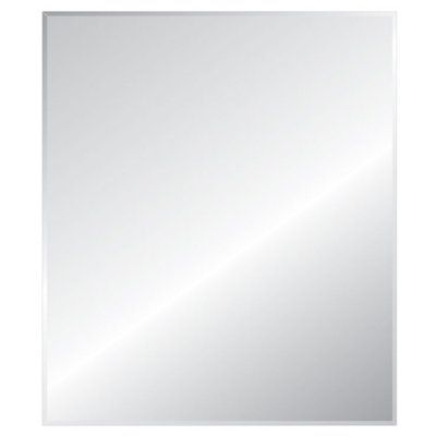 Style Selections Silver Beveled Rectangle Frameless Traditional Wall Mirror