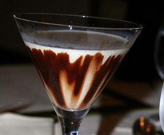 Godiva Chocolate Martini recipe    1 1/2 shots Godiva® chocolate liqueur  1/2 shot Smirnoff® vodka  2 1/2 shots half-and-half    Mix all ingredients in a shaker with ice, shake and pour into a chilled cocktail glass.    Heaven!     Very smooth...Goes down really easy...