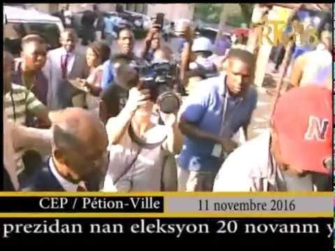 La candidate à la présidence de Fanmi Lavalas, Maryse Narcisse, a répondu à la convocation du CEP, vendredi dans l'après-midi. -