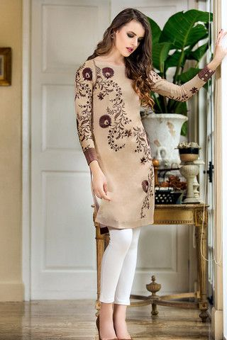 Fawn Embroidered Lawn SL-181