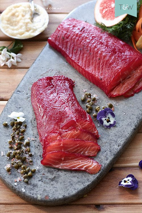 Dish of the Day – Beetroot Salmon Gravlax - by Jono Fleming. Recipe on the Temple & Webster blog.