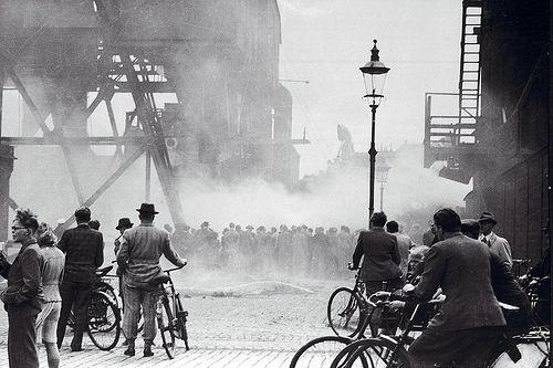 Sabotage during WWII. Langebro in Copenhagen (March 1945)