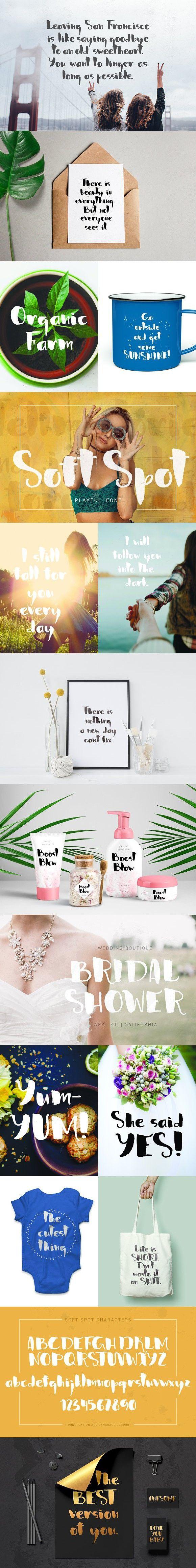 Soft Spot - playful font. Script Fonts