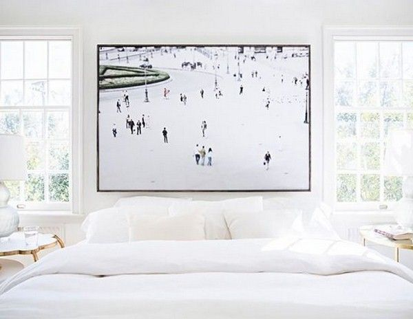 17 best images about beds without headboards on pinterest for White bed without headboard
