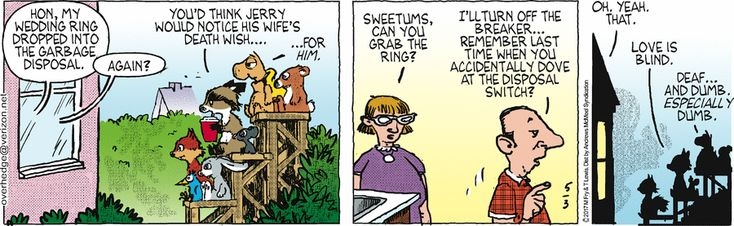 Over the Hedge by T Lewis and Michael Fry for May 3, 2017 | Read Comic Strips at GoComics.com